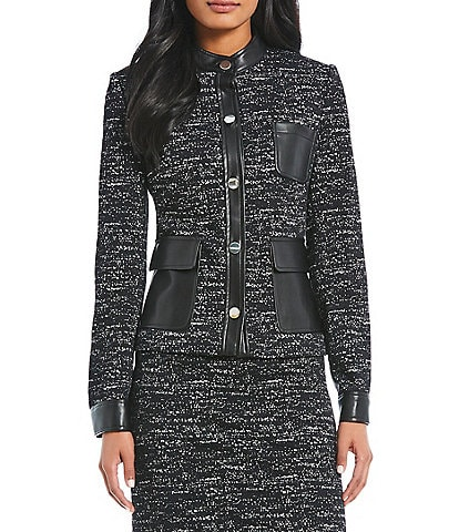 Calvin Klein Petite Size High Neck Jacket