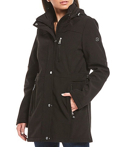 Calvin Klein Petite Size Hooded Soft Shell Coat