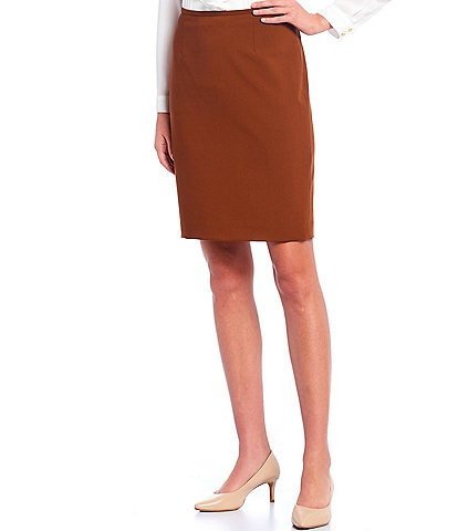 Calvin Klein Petite Size Lux Stretch Suiting Pencil Skirt