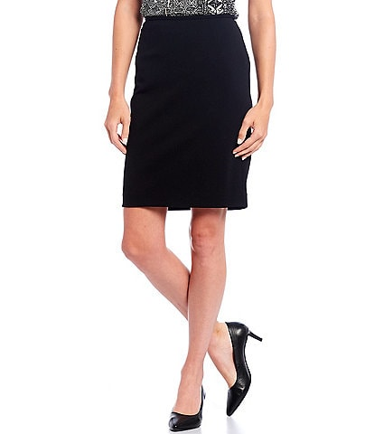 Calvin Klein Petite Size Scuba Crepe Slim Pencil Skirt