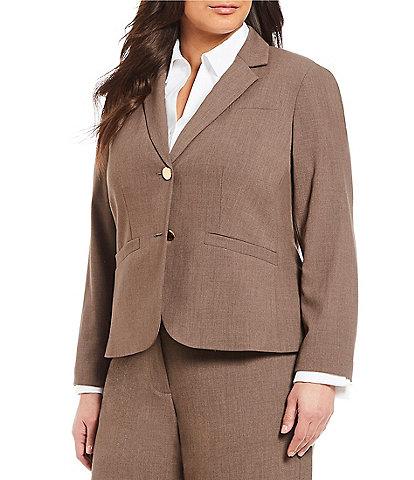 6caa284720 Calvin Klein Plus 2 Button Luxe Notch Collar Jacket