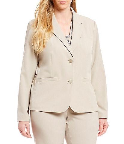 Calvin Klein Plus Size 2-Button Suit Jacket