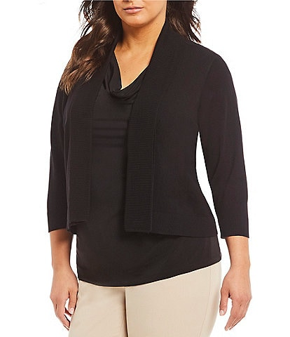 Calvin Klein Plus 3/4-Sleeve Shrug