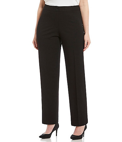 bdd494bda5e Calvin Klein Plus Classic Fit Straight Leg Pants