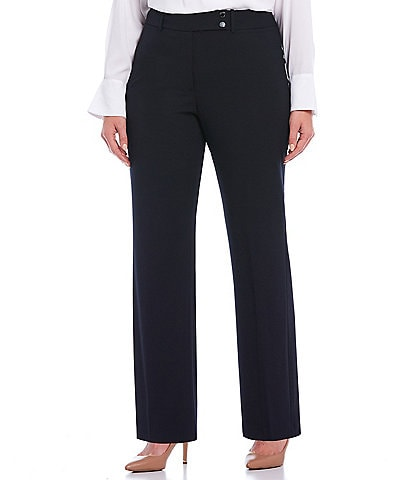 Calvin Klein Plus Size Curvy Fit Straight Leg Pants