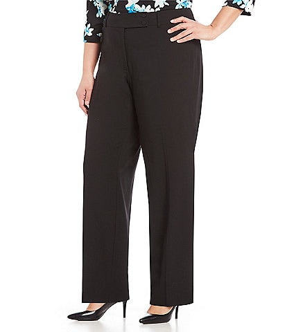 Calvin Klein Plus Size Curvy Fit Straight Leg Pants