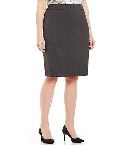 Calvin Klein Plus Size High Rise Pencil Skirt