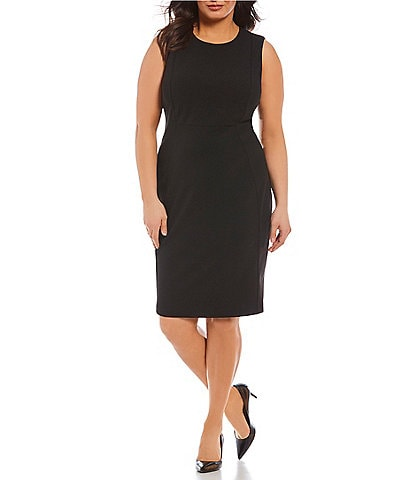 Calvin Klein Plus Seam Front Sheath Dress