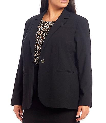 Calvin Klein Plus Size One-Button Front Jacket