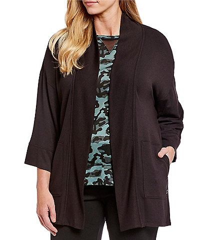 Calvin Klein Plus Size Performance Wide Sleeve Drape Cardigan