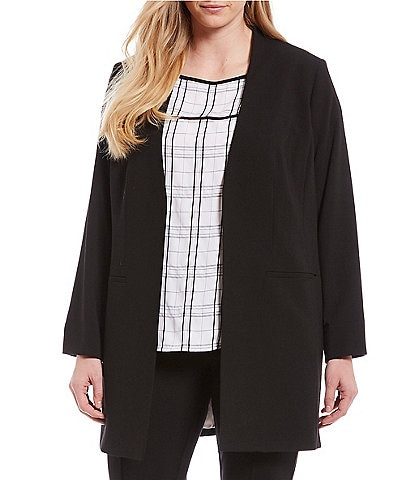 Calvin Klein Plus Size Roll Sleeve Jacket