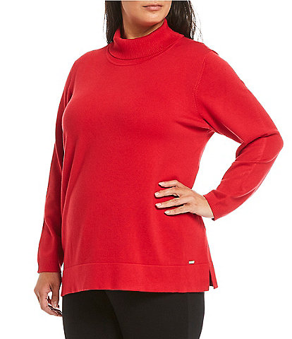 Calvin Klein Plus Size Solid Turtleneck Sweater