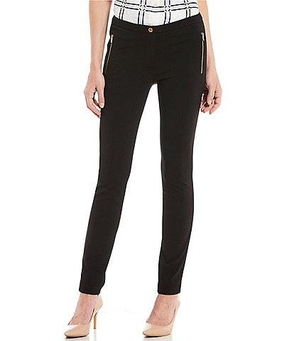 Calvin Klein Scuba Crepe Zip Pocket Slim Skinny Leg Pants