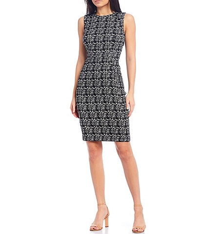 Calvin Klein Sleeveless Seamed Sheath Dress