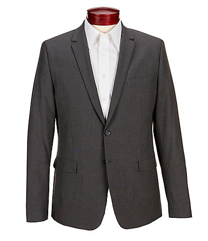 Calvin Klein Slim-Fit End-On-End Bi-Stretch Suit Separates Blazer