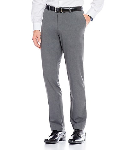 Calvin Klein Slim-Fit End-On-End Bi-Stretch Flat Front Suit Separate Pants