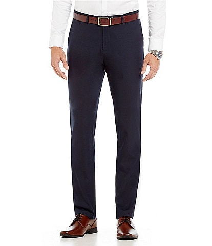 Calvin Klein Slim-Fit Flat-Front Fine Cord Stripe Bi-Stretch Suit Separate Pants