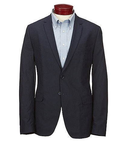 Calvin Klein Slim-Fit Infinite Cool Fine Cord Stripe Suit Separates Blazer