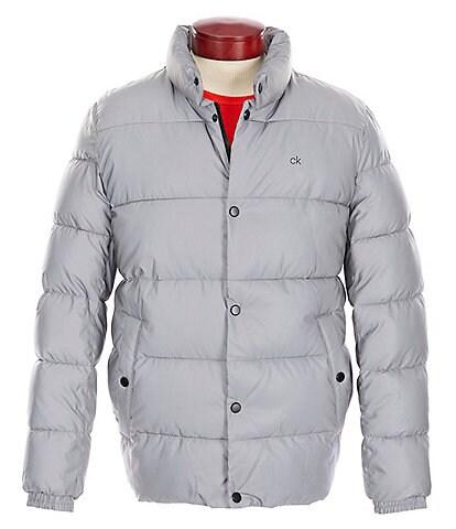Calvin Klein Snap-Front Puffer Coat