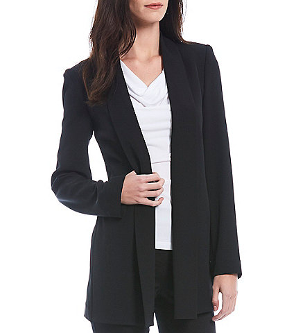 Calvin Klein Soft Suiting Stretch Open-Front Jacket