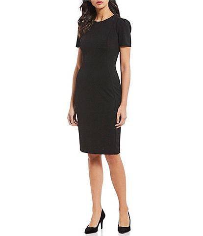Calvin Klein Solid Stretch Sheath Dress