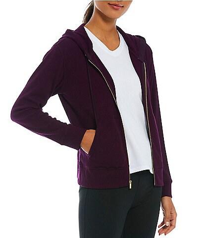 Calvin Klein Mini Waffle Knit Zip Front Hoodie