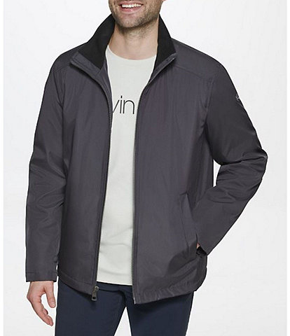 Calvin Klein Stand Collar Poly Bonded Hipster Jacket