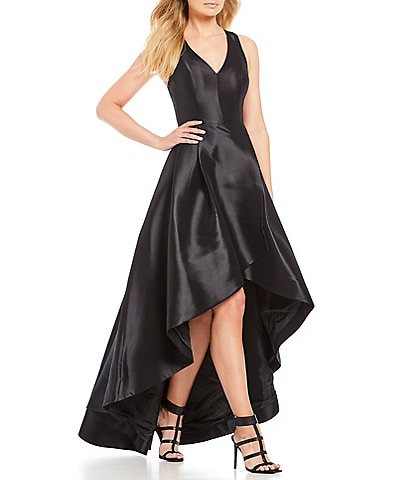 Calvin Klein Taffeta Tulip Hi-Low Dress