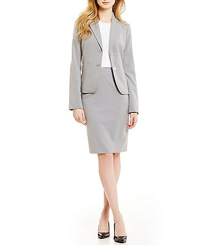 Calvin Klein Two-Button Suit Jacket & Pencil Skirt