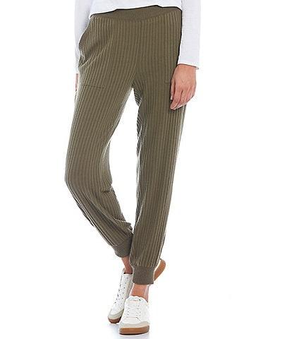 Calvin Klein Waffle Knit Elastic Drawstring Waistband Pull-On Joggers