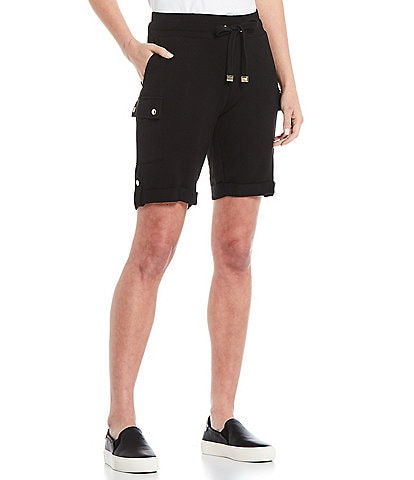 Calvin Klein Washed French Terry Drawstring Cargo Shorts
