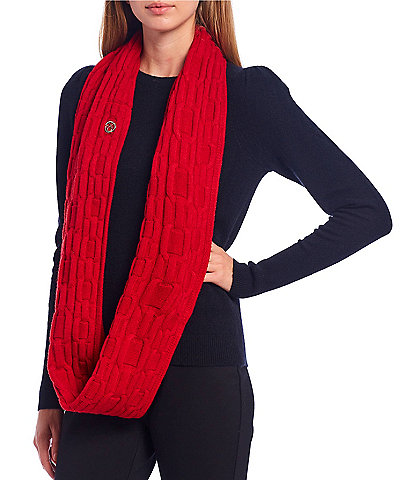 Calvin Klein Women's Chain Cable Knit Loop Infinity Scarf