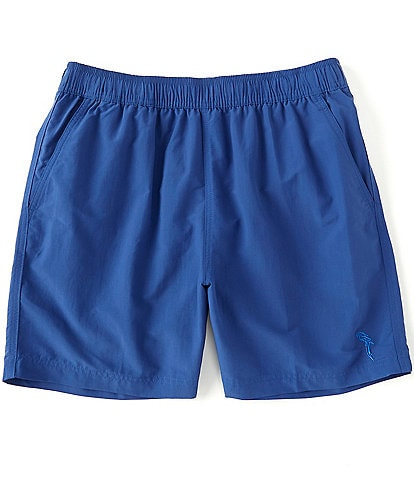 Caribbean Solid 6#double; Inseam Swim Trunks