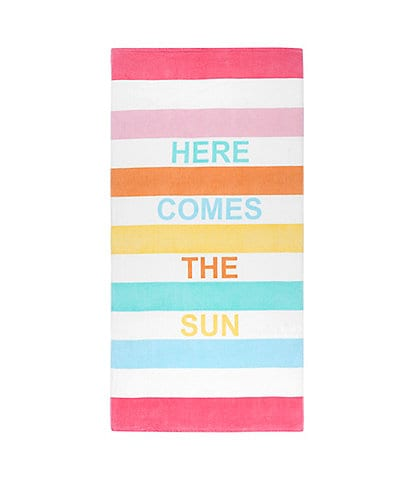 Caro Home Outdoor Collection Here Comes the Sun Beach Towel