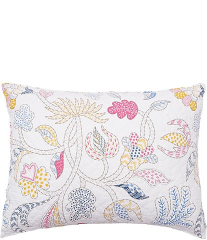carol & frank Brie Floral Embroidered Standard Pillow Sham