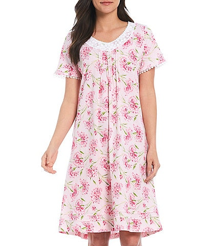 Carole Hochman Floral Printed Jersey Knit Short Nightgown