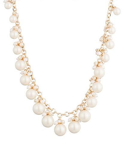 Carolee Large Cluster Pearl Necklace