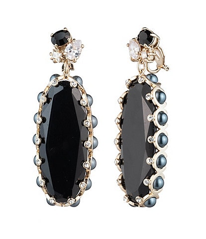 Carolee Large Stone Drop Earrings