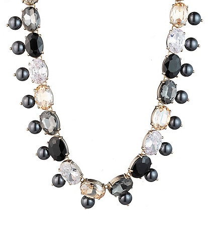 Carolee Stone And Fresh Water Pearl Collar Necklace