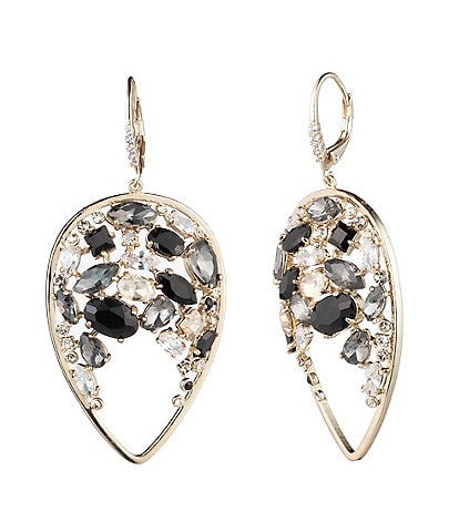 Carolee Tear Drop Cluster Earrings