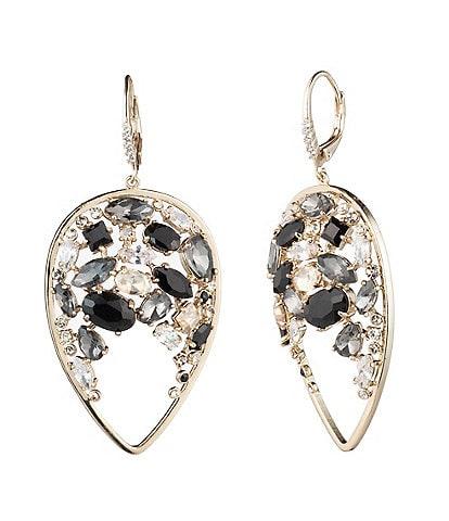 Carolee Tear Drop Cluster Earrings
