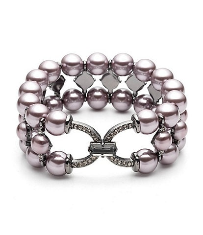 Carolee Three Row Stretch Bracelet
