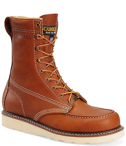 Carolina Men's AMP USA 8#double; Moc Toe Wedge Work Boots