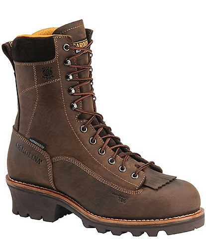 Carolina Men's Birch 8#double; Waterproof Logger Work Boots