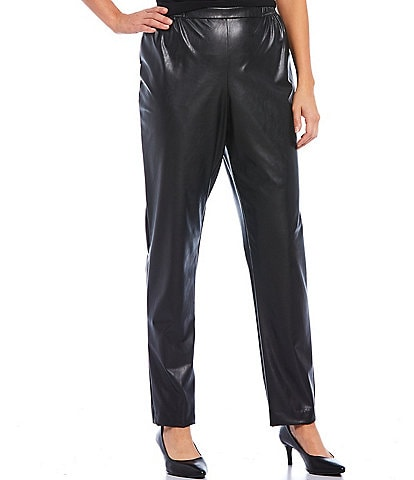 Caroline Rose Bi-Stretch Faux Leather Tapered Skinny Pant