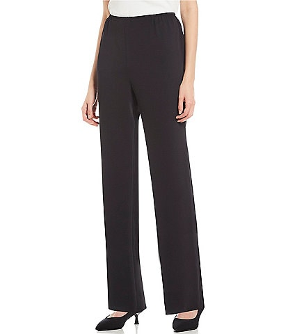 Caroline Rose Pull-On Ponte Luxe Straight Leg Pants