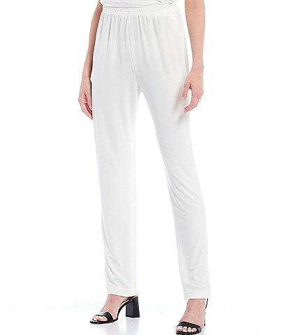 Caroline Rose Stretch Knit Jersey Tapered Leg Pull-On Pants