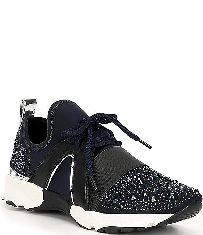 Carvela Lament Bling Embellished Lace-Up Sneakers