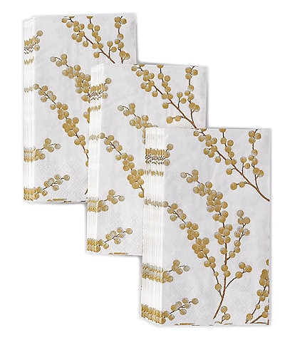 Caspari Berry Branches Paper Guest Towel Set