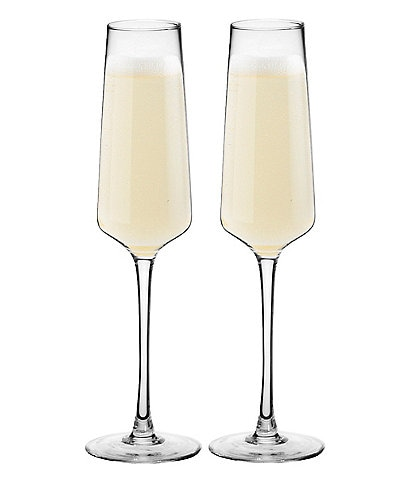 Cathy's Concepts 9.5oz Initial Champagne Estate Glasses, Set of 2